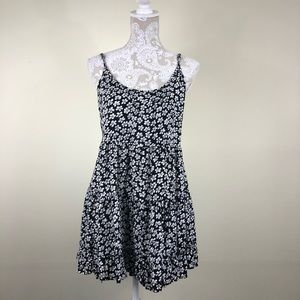 Brandy Melville black and white floral jada dress